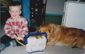 Op jonge leeftijd was de DJ al bezig!